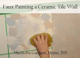 Sponge Faux Painting - manitoba gardens faux painting ceramic tile walls