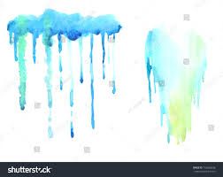 watercolor drips paint painting templates designer stock