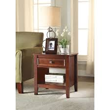 linon home decor wander cherry storage end table 770000chy01u