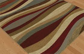 Rug Color Multi Color Contemporary Waves Abstract Lines Modern Curves Swirls