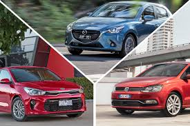 2017 kia rio vs mazda 2 vs volkswagen polo comparison review