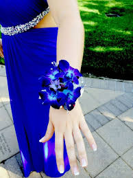 blue orchid corsage stunning galaxy blue orchid stephanotis wedding wrist corsage