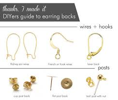 different types of earrings diyers guide to earring backs charts posters read