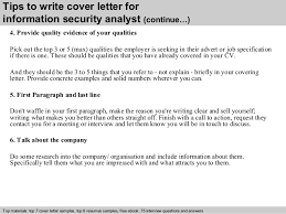 security cover letter sles information security analyst cover letter