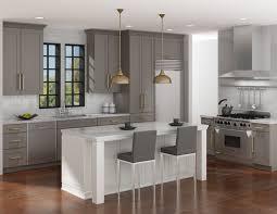 grey and white transitional kitchen gauntlet supermatte on