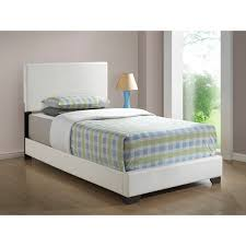 Minimalist Bed Frame Minimalist Bedroom Ideas With White Faux Leather Padded Minimalist