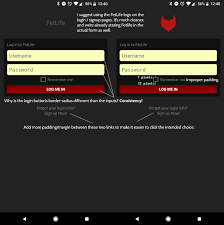 fetlife app for android login design improvements issue 419 fetlife android github