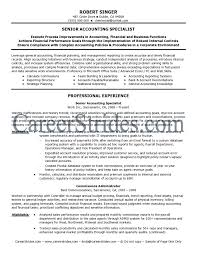 Sample Resume Format For Accounting Staff by Lead Accountant Sample Resume