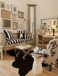 West Elm Cowhide Rug Striped Daybed French Living Room Stephen Shubel Design