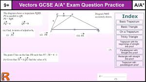 how to do vectors a a gcse maths revision higher level worked
