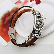 anchor bracelet charms images Cuff leather bracelet wrist band vintage punk rock fashion stylish jpg