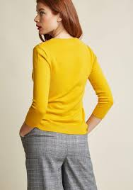 charter sweater lyst modcloth charter pullover sweater in honey in yellow