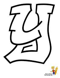 cool graffiti letter y get coloring pages