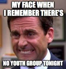 Group Photo Meme - my face when i remember there s no youth group tonight