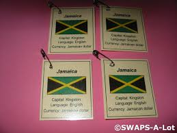 Jamaican Flag Day Mini Jamaica Flag Capital Thinking Day Scout Swaps Kids