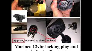 a close up look of marinco trolling motor receptacle part 1 of 2