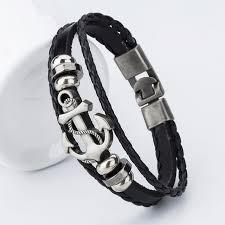 anchor braid bracelet images Anchor charm men 39 s bracelets 7 colors jpg
