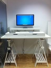living room magnificent remarkable desk ikea hack standing