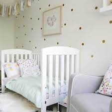 Nursery Stickers Aliexpress Com Buy Gold Polka Dots Wall Sticker Baby Nursery