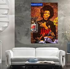 Graffiti Art Home Decor 2017 Street Graffiti Art Portrait Painting Music Star Smoking