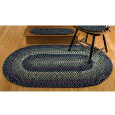 Design Your Home By Yourself Decorating Wonderful Braided Rugs In Oval Design On Wooden Floor