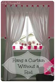 Creative Curtain Hanging Ideas Curtains Hanging A Curtain Rod Ideas How To Hang Without Rod