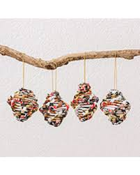 find the best savings on recycled paper ornaments