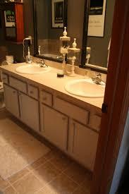 bathroom elegant beige master bath cabinet with dual oval sink