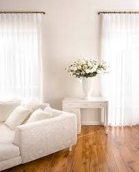 Beige Walls White Trim by French Pleat Curtains Living Room Transitional With Beige Walls