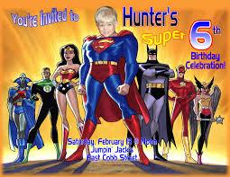 Customized Birthday Invitation Cards Free Superhero Birthday Invitations U2013 Gangcraft Net