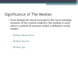 median and its significance dr richard