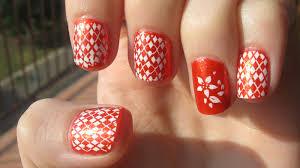 orange color nail artcolornailsart orange color nail