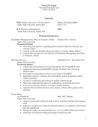 Higher Education Resume Knight Resume