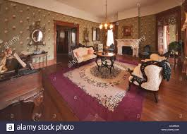parlor in hill country museum at captain charles schreiner mansion