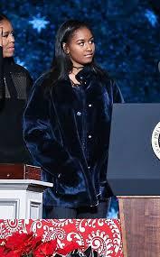 sasha obama u0027s 695 christmas tree lighting coat just made it to