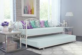 dorel home bombay metal daybed and trundle off white walmart com