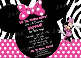 template minnie mouse birthday invitations baby minnie mouse