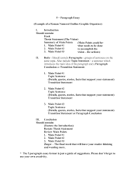 outline of essay example
