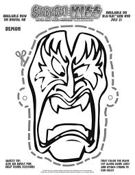 free printable scooby doo kiss demon mask free halloween