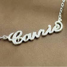Monogrammed Sterling Silver Necklace 42 Best Sterling Silver Name Necklaces Images On Pinterest Name