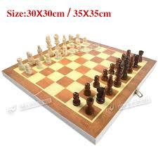 large 30cm 35cm brand new classic folding wooden chess set chess