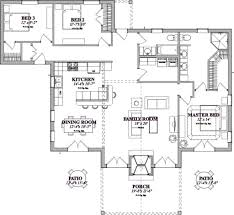 Patio House Plans Craftsman Style House Plan 3 Beds 2 00 Baths 1711 Sq Ft Plan 63 359
