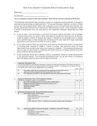employee development plan template free sample agenda format for