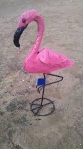 Flamingo Home Decor Flamingo Sm Recycled Metal Yard Art Home And Garden Decor Gift