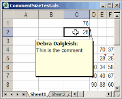 excel comments macros