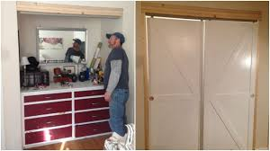 Make Closet Doors Gorgeous Remodelaholic How To Make Bypass Closet Doors Into