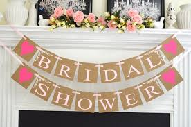 inspirations wedding shower decorations with bridal shower banner