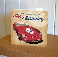 with age comes coolness red ferrari birthday card karenza paperie