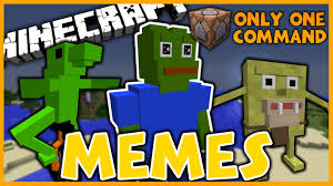 Minecraft Meme Mod - memes in one command dat boi pepe the frog and more minecraft