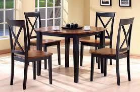 black u0026 walnut two tone finish 5pc modern dining table set